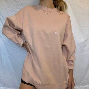 American Eagle Pastel Pink Oversized Crewneck